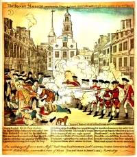 Boston Massacre Engraved by Paul Revere